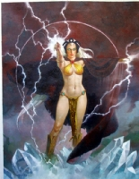 Sanjulian Savage Land Storm  Comic Art