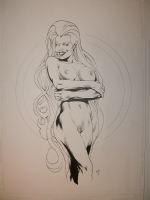 Michael Bair Nude Storm Comic Art