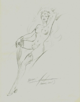Mike Grell Nude Storm Comic Art