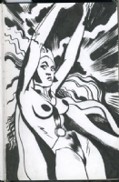 Tony Salmons Nude Storm Comic Art