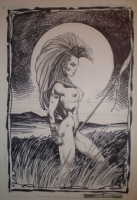 Liam Sharp Nude Storm Comic Art