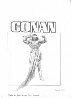 Sanjulian Conan Comic Art