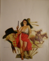 Sanjulian Western Cover Comic Art