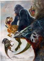 Sanjulian King Kong Comic Art