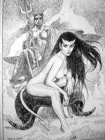 Sanjulian Devil Girl  Comic Art