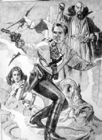 Sanjulian Flash Gordon prelim Comic Art