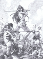 Sanjulian Red Sonja prelim Comic Art