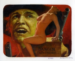 Sanjulian Nude Western Cover  Comic Art