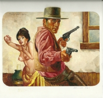 Sanjulian Western Cover 3 Comic Art