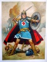 Sanjulian Prince Valiant painting Comic Art