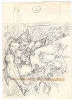 Neal Adams JLA #138 Cover prelim Comic Art
