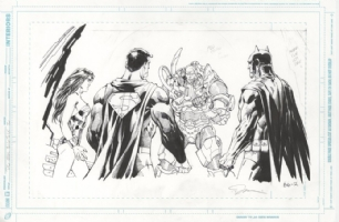 Jim Lee DC Universe Splash Page Comic Art