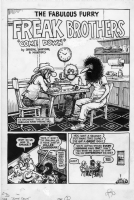Freak Brothers #7 Splash:  SHELTON, MAVRIDES & SHERIDAN Comic Art