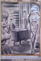 Bill Ward 2 Women in Personell! Humorama Comic Art