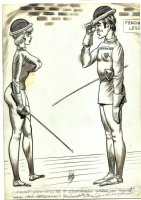 Bill Ward Humorama  Fencing  Comic Art