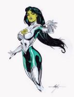 Jade by MC Wyman Comic Art