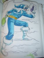 Captain Cold by Scott Kolins and Tom Smith Comic Art