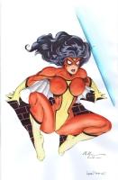 Spider-Woman watercolors Comic Art