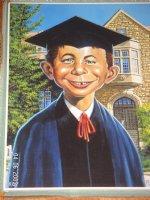 Alfred E. Neuman Graduate Comic Art