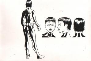 Raven (Unmasked) - 2009-10 DC Comics Style Guide Comic Art