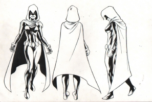 Raven - 2009-10 DC Comics Style Guide Comic Art