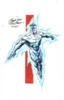 Ron Frenz Superman Blue Comic Art
