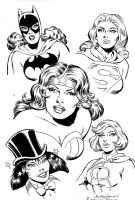 DC Girls by Ramona Fradon Comic Art