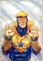 Booster Gold Comic Art