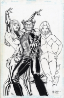 Wolverine/White Queen/Phoenix Comic Art