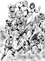 Avengers Comic Art