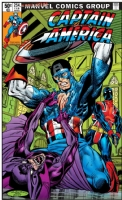 Captain America 254 Cover (One Minute Later) Comic Art