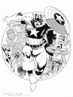 Captain America Pin-Up Comic Art