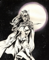 HUNTRESS! by Buzz!! UP FOR GRAB.!!!! Comic Art