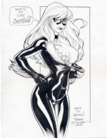 Terry Dodson Black Cat/Red Sonja Commission Inked Comic Art