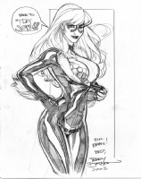 Terry Dodson Black Cat/Red Sonja Comic Art