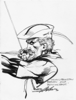 Neal Adams Green Arrow Sketch Comic Art