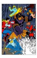 Chthonak vs the Sentinels - Color Comic Art