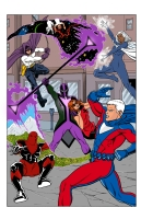 Khronocide vs the Sentinels COLOR Comic Art