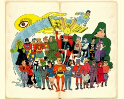 Golden Age Across the Page - Hembeck/Turnbull Comic Art