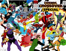 Cosmic Crossover Special #1 - 00 - Wraparound Cover - Color Comic Art