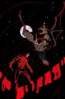Daredevil vs Man-Bat (In Color!) Comic Art