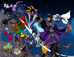Standard Comics Encyclopedia - Cover Colors Starfield Version Comic Art