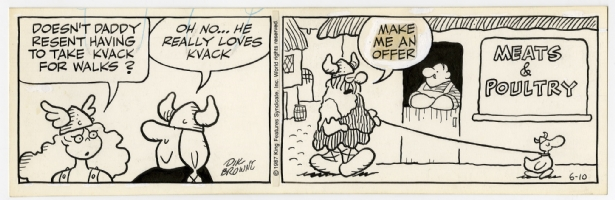 Hagar the Horrible Daily 10th of June 1987  Comic Art