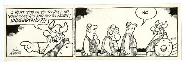 Hagar the Horrible Daily 26th of August 1987  Comic Art