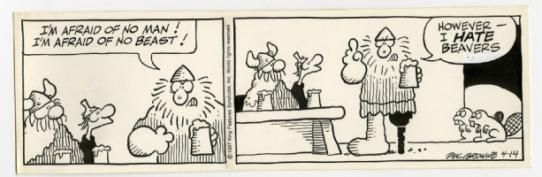 Hagar the Horrible Daily 14th of April 1987 Comic Art