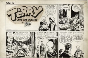 Terry and the Pirates partial Sunday - 19th of November 1939 - Pat Ryan and April Kane Comic Art