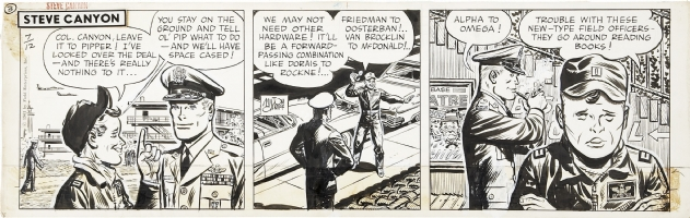 Steve Canyon Daily Comic Strip 7/12/61 Comic Art