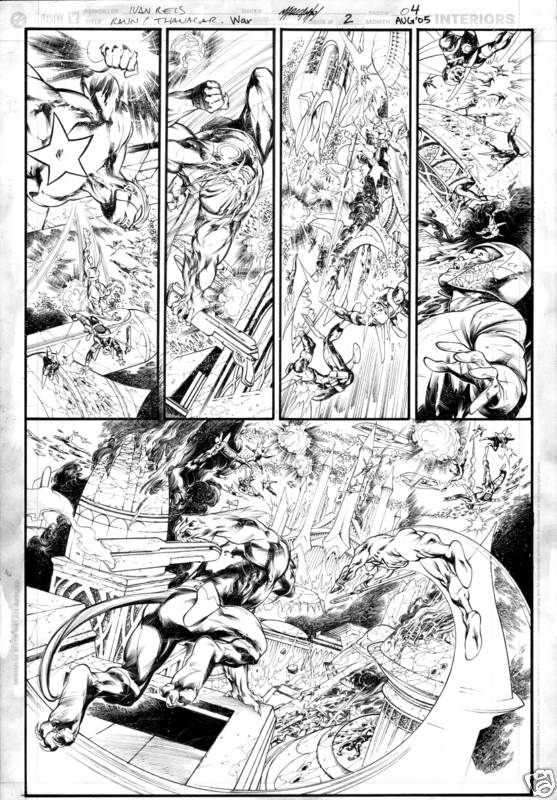 Rann Thanagar War 2 pg 4 by Ivan Reis Comic Art