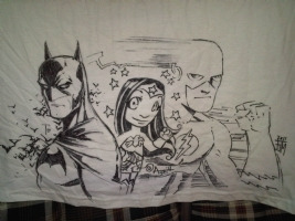 2011 Batman by Marcus To, Wonder Woman by Agnes Garbowska, Flash by Francis Manapul, Comic Art
