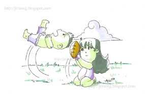 2008 Hulk & She-Hulk by Agnes Garbowska, Comic Art